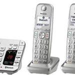 Panasonic KX-TG474S Link2Cell Bluetooth Teléfono inalámbrico con máquina contestadora y 4 auriculares, 4 auriculares - KX-TGE474S, Plateado