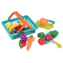 Battat Farmers Market Pretend Play Food and Cutting Board Playset (37 Pieces)