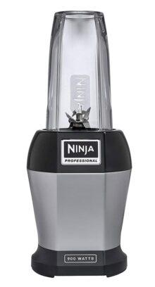 Nutri Ninja Pro Licuadora personal con base de 900 vatios y extracción de vitaminas y nutrientes para licuados y batidos, BL456, Plateado / Negro, 680 g, 1