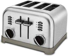 Cuisinart CPT-180 Tostador de Metal para 4 Panes, Stainless Steel