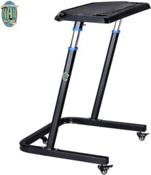 RAD Cycle products Portable Fitness Desk- Adjustable Height Workstation for Bikes or Standing-Work and Cycle Indoors on Laptop or Tablet