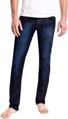 Duc Denim - Jeans Para Hombre - Henri the Hopeful - Aged Indigo - Straight Fit - Jeans Azules - Alta Calidad de Mezclilla - Corte Ajustado - Fit Perfecto - Estilo Moderno - Denim - Para Caballero - Skinny - Se Estiran - Mezclilla Elastica