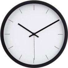AmazonBasics - Reloj de Pared Moderno de 12 Pulgadas, Negro, 1