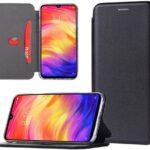 shemax Funda para Xiaomi Redmi Note 7 Case Protector,Funda Folio para Móvil con Imán para Xiaomi Redmi Note 7/Redmi Note 7 Pro-Negro