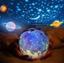 Luz de noche, GLURIZ Luz nocturna, Lámpara de proyector, Lámpara de noche, Bebé Proyector lámpara, 360 Grados rotación cumpleaños, universo, estrella