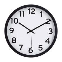 AmazonBasics - Reloj de Pared numerado de 12 Pulgadas, Negro, 1