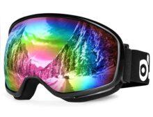 Odoland S2 - anteojos de esquí de doble lente antivaho y resistente al viento UV400 para adultos y jóvenes, snowboard, ciclismo de motocicleta y motos de nieve, invierno, deportes al aire última intervensión, anteojos protectoras