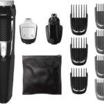 Philips Norelco Multi Groomer MG3750/50 - Cortapelos y maquinilla para barba, cara, nariz y orejas
