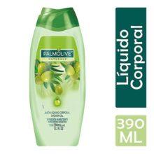 Palmolive Naturals Jabón de Tocador, Aloe y Oliva, Líquido Corporal, 390 ml