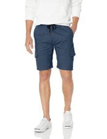 Brooklyn Athletics - Pantalón Corto de Sarga elástica para Hombre, Marino, Medium
