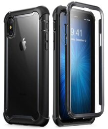 i-BLASON Carcasa para iPhone XS , Funda con Protector de visualización Integrado para iPhone XS (versión 2018), Color Negro