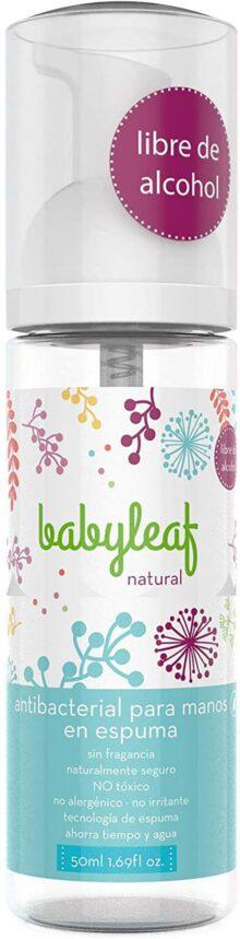 Antibacterial para Manos en Espuma - Libre de Alcohol - Babyleaf Natural - 50ml 1.69fl oz.