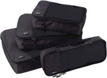 AmazonBasics Bolsas organizadoras de equipaje, 4 piezas (pequeña, mediana, grande y alargada)