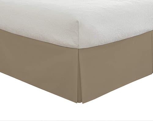 Lux Hotel Faldón para cama, microfibra básica de 35.6 cm, california Tamaño gigante, moca
