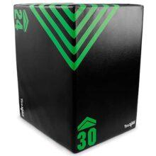 Yes4All Plyo Box/Plyometric Box Plataforma para Crossfit, Entrenamiento de Salto y Acondicionamiento - Plyo Jump Box/Soft Plyo Box 3 en 1 (20/24/30)