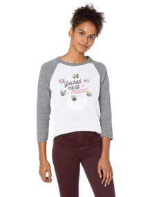 Skechers Bobs for Dogs and Cats - Playera de béisbol (3/4) Camiseta para Mujer
