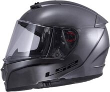LS2 Helmets Unisex-Adult Full face Helmet Brushed Alloy X-Large