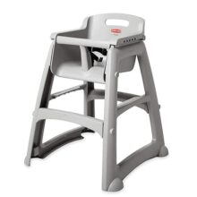 Rubbermaid Platinum Sturdy Chair Youth Seat High Chair, Platinum, Ready-To-Assemble, FG781408PLAT