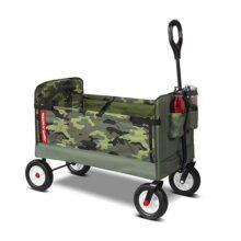 Radio Flyer - Carro Plegable 3 en 1 EZ para niños y Cargas, Camuflaje, Verde