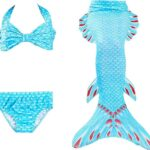Lee Little Angel nuevos niños SPA Traje de baño Bikini de Tres Piezas Sirena Cola Conjunto