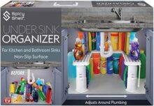 Organizador y almacenamiento para debajo del fregadero expandible