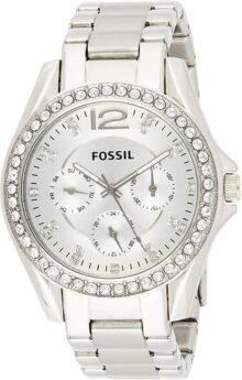 Reloj Fossil Riley para Mujer 38mm, pulsera de Acero Inoxidable