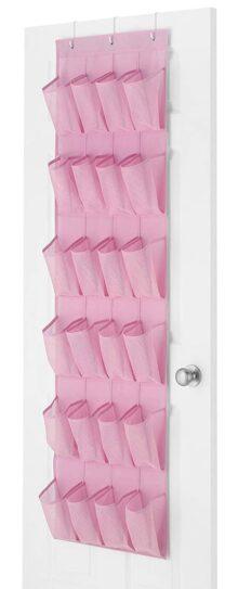 Whitmor - Organizador de Zapatos para Puerta (24 Bolsillos), Color Rosa