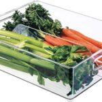 InterDesign Bandeja de Almacenamiento para Refrigerador y Congelador, 12 x 4 pulgadas, Transparente