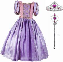 Diseños Candys - Vestido de Princesa Rapu/Disfraz de Princesa Rapunzel y Accesorios para niña