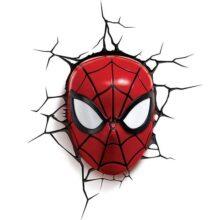 Marvel Lámpara 3D Máscara de Spiderman Lámpara