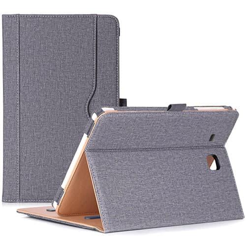 """Procase Funda Flip para Samsung Galaxy Tab E 9.6 - Estuche Folio con Soporte/Tapa Inteligente/Portalápiz para Galaxy Tab E 9.6""""/ Tab E Nook 9.6"""" (SM-T560/T561/T565/SM-T567V) –Plomo"""