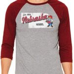 Original Retro Brand NCAA Mississippi Ole Miss Rebels Playera de béisbol 3/4 para Hombre
