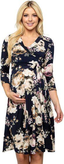 My Bump - Vestido de Maternidad Floral para Mujer (Fabricado en Estados Unidos)