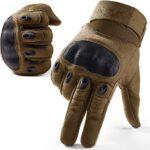 HJY Airsoft Gloves Men Guantes tácticos para Senderismo Ciclismo Escalada Acampar al Aire Libre Deportes (No Compatible con Pantalla táctil)