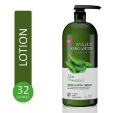 Avalon Organics Unscented Aloe Hand And Body Lotion, 32 Oz