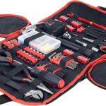 Stalwart Kit de herramientas hogar coche y oficina en funda enrollable 86piece por