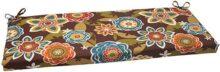 Pillow Perfect Annie Wicker - Cojín para sofá para interiores y exteriores, color chocolate