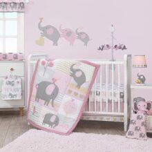 Bedtime Originals Eloise - Juego de ropa de cama (3 piezas), color rosa