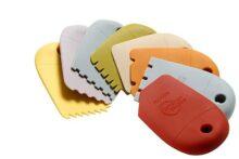 Mercer Culinary Cuña dentada de silicona para montaje de alimentos, cuadrada, 8-Piezas. Set de cuña de silicona, Multicolor, 1