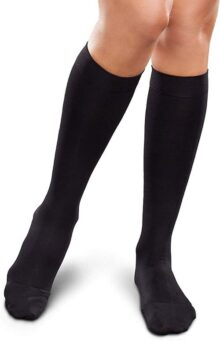 Therafirm Ease Opaque Women's Short Knee High 20-30 mmHg, Black, Large by Therafirm