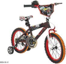 Hot Wheels Dynacraft Bicicleta de Calle BMX para niños con Freno de Mano de 16 Pulgadas, Color Negro/Rojo/Naranja