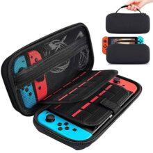 Nasjac Estuche portátil para Nintendo Switch, almacenamiento Bolsa protectora Cubierta rígida Kit de protección Funda para Nintendo Switch