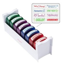 ECR4Kids Self-Inking Teacher Stamp Sets, Assorted Phrases