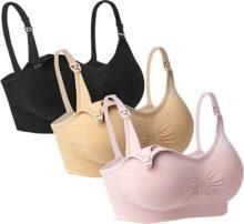 iLoveSIA–Paquete de 3para Mujer sin Costuras Brasier de Lactancia Bralette