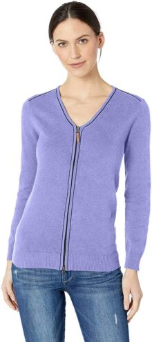 D & Jones Manchester suéter con Cierre Completa Chamarra para Mujer