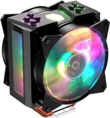Cooler Master RR-HT2-28PK-R1 Hyper T2 - Nevera de CPU compacta con Dos Tubos de Calor de Contacto Directo, Intel/AMD con Soporte AM4, 4 tuberías Calor, MA410M