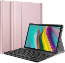 Fintie Funda con Teclado Inglés para Samsung Galaxy Tab S5e 10.5 2019 - Carcasa SlimShell con Soporte y Teclado Inglés Inalámbrico Bluetooth Magnético Desmontable,Oro rosa