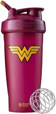 BlenderBottle Justice League Superhero Mixing Cups – Classic 28 Ounce, Wonder Woman
