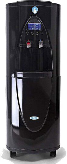 NUBE: Generador de Agua del Aire 30L/día - Sin Flúor, Alcalina + Ionizada - Saludable - Dispensador 100% Ecológico y Sustentable - Filtro Carbono + Osmosis + UV - Enfriador y Calentador + Dispensador + Deshumidificador (Negro Obsidiana)