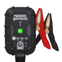 NOCO GENIUS1, cargador inteligente completamente automático de 1 amperio, cargador de batería de 6 V y 12 V, mantenedor de batería y desulfador de batería con compensación de temperatura